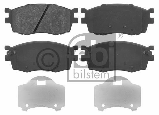 Kit de plaquettes de frein, frein à disque - FEBI BILSTEIN - 16699