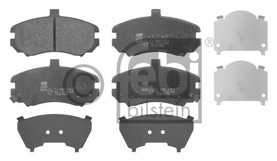 Kit de plaquettes de frein, frein à disque - FEBI BILSTEIN - 16700