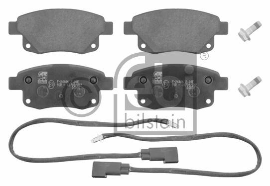 Kit de plaquettes de frein, frein à disque - FEBI BILSTEIN - 16701