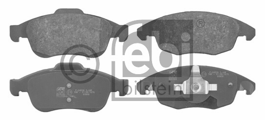 Kit de plaquettes de frein, frein à disque - FEBI BILSTEIN - 16713