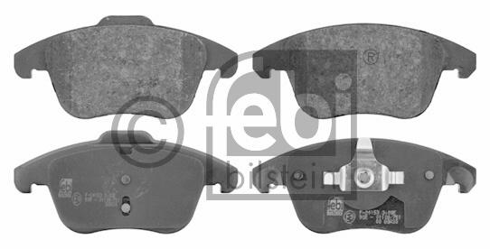Kit de plaquettes de frein, frein à disque - FEBI BILSTEIN - 16714