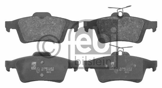 Kit de plaquettes de frein, frein à disque - FEBI BILSTEIN - 16718