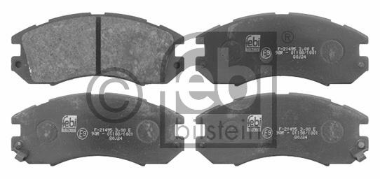 Kit de plaquettes de frein, frein à disque - FEBI BILSTEIN - 16720
