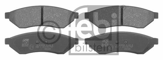Kit de plaquettes de frein, frein à disque - FEBI BILSTEIN - 16722