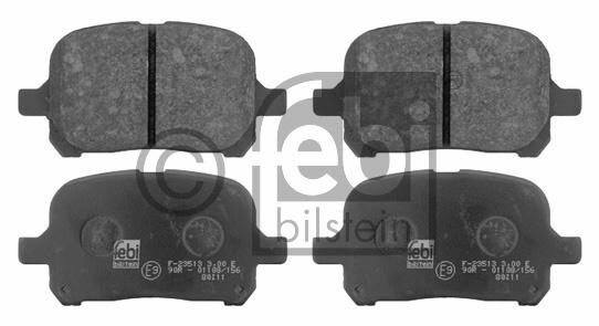Kit de plaquettes de frein, frein à disque - FEBI BILSTEIN - 16724