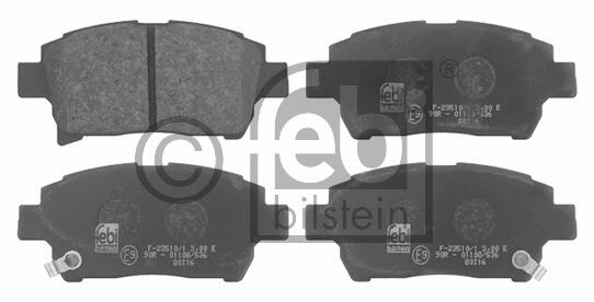 Kit de plaquettes de frein, frein à disque - FEBI BILSTEIN - 16725
