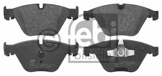Kit de plaquettes de frein, frein à disque - FEBI BILSTEIN - 16728