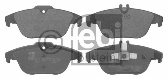 Kit de plaquettes de frein, frein à disque - FEBI BILSTEIN - 16736