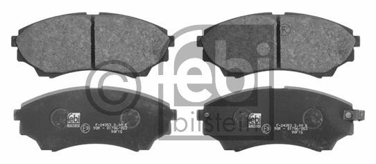 Kit de plaquettes de frein, frein à disque - FEBI BILSTEIN - 16739
