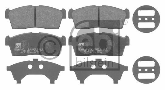Kit de plaquettes de frein, frein à disque - FEBI BILSTEIN - 16740