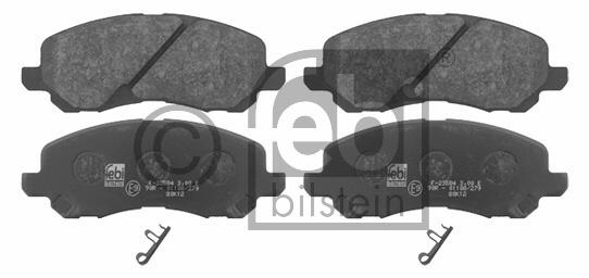Kit de plaquettes de frein, frein à disque - FEBI BILSTEIN - 16741