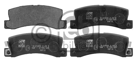 Kit de plaquettes de frein, frein à disque - FEBI BILSTEIN - 16743