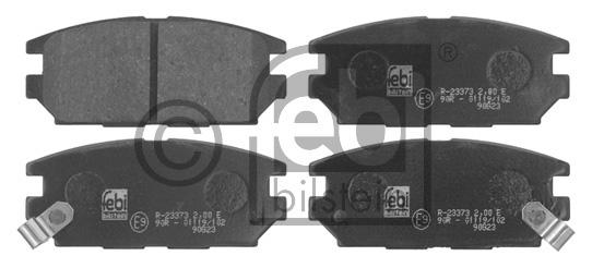 Kit de plaquettes de frein, frein à disque - FEBI BILSTEIN - 16756