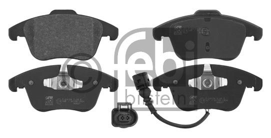 Kit de plaquettes de frein, frein à disque - FEBI BILSTEIN - 16760