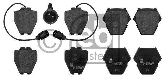 Kit de plaquettes de frein, frein à disque - FEBI BILSTEIN - 16763