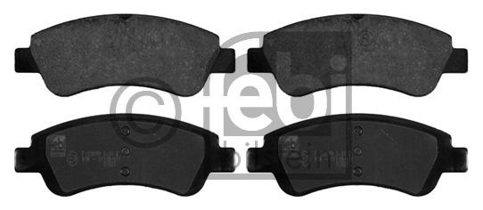 Kit de plaquettes de frein, frein à disque - FEBI BILSTEIN - 16765
