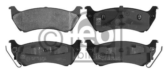 Kit de plaquettes de frein, frein à disque - FEBI BILSTEIN - 16769
