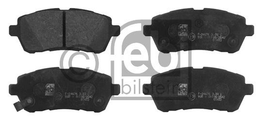 Kit de plaquettes de frein, frein à disque - FEBI BILSTEIN - 16771