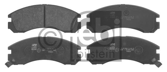 Kit de plaquettes de frein, frein à disque - FEBI BILSTEIN - 16776