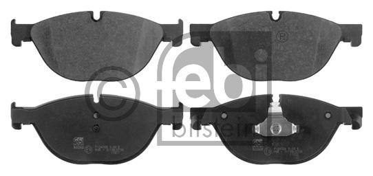 Kit de plaquettes de frein, frein à disque - FEBI BILSTEIN - 16787