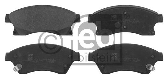Kit de plaquettes de frein, frein à disque - FEBI BILSTEIN - 16789