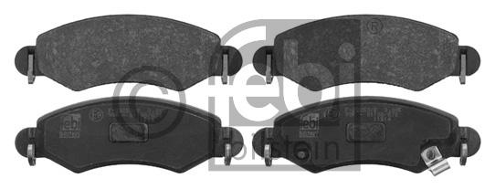 Kit de plaquettes de frein, frein à disque - FEBI BILSTEIN - 16794