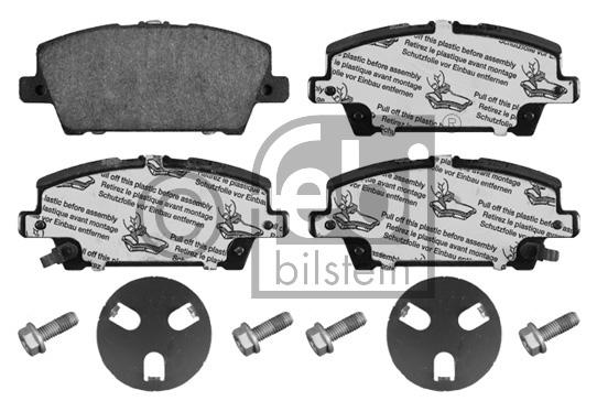 Kit de plaquettes de frein, frein à disque - FEBI BILSTEIN - 16802