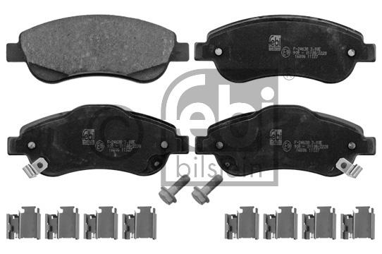 Kit de plaquettes de frein, frein à disque - FEBI BILSTEIN - 16806