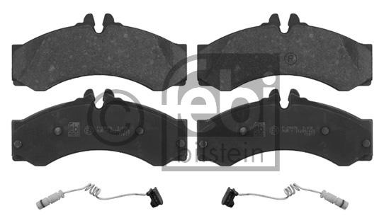 Kit de plaquettes de frein, frein à disque - FEBI BILSTEIN - 16811