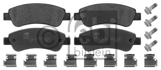 Kit de plaquettes de frein, frein à disque - FEBI BILSTEIN - 16814