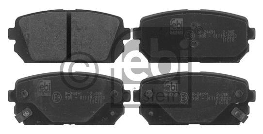 Kit de plaquettes de frein, frein à disque - FEBI BILSTEIN - 16817