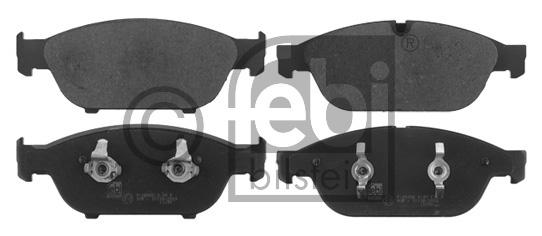 Kit de plaquettes de frein, frein à disque - FEBI BILSTEIN - 16823