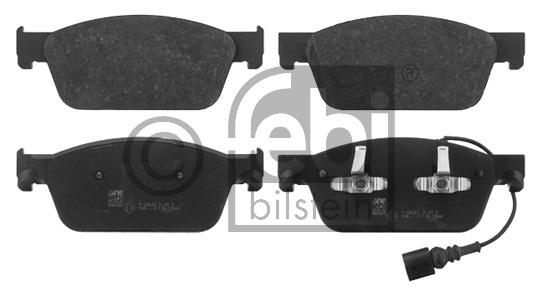 Kit de plaquettes de frein, frein à disque - FEBI BILSTEIN - 16824