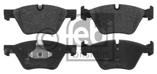 Kit de plaquettes de frein, frein à disque - FEBI BILSTEIN - 16825