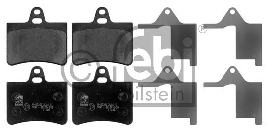 Kit de plaquettes de frein, frein à disque - FEBI BILSTEIN - 16832