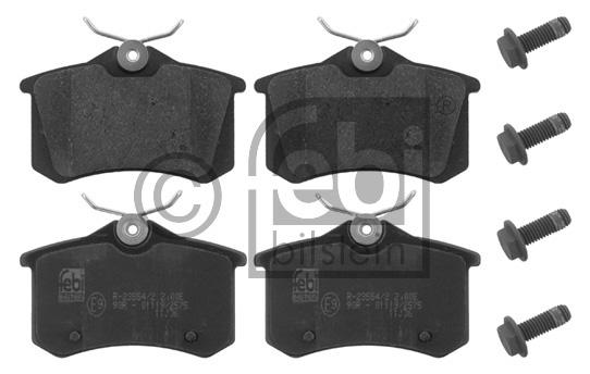 Kit de plaquettes de frein, frein à disque - FEBI BILSTEIN - 16834