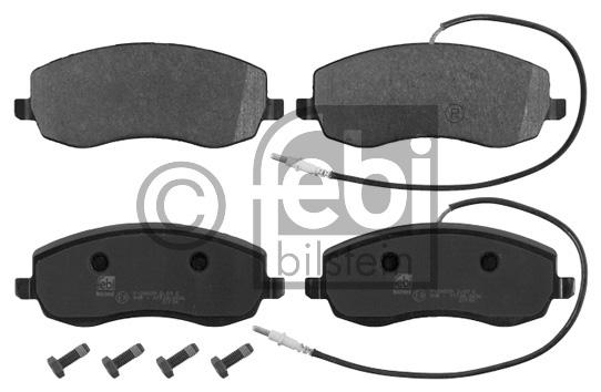 Kit de plaquettes de frein, frein à disque - FEBI BILSTEIN - 16846
