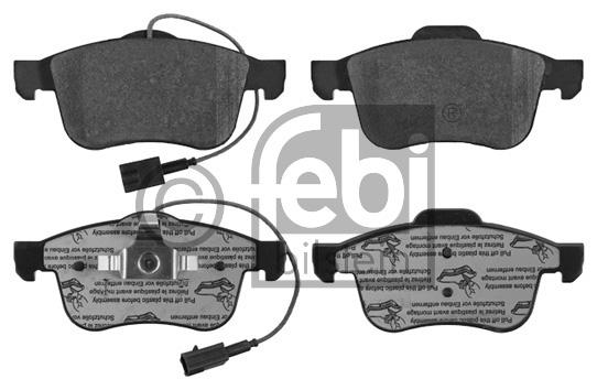 Kit de plaquettes de frein, frein à disque - FEBI BILSTEIN - 16847