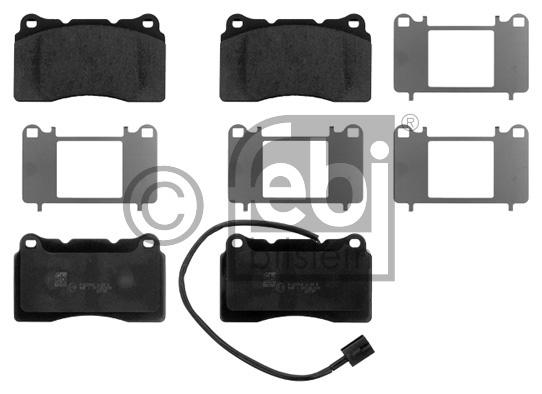Kit de plaquettes de frein, frein à disque - FEBI BILSTEIN - 16848