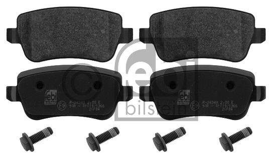 Kit de plaquettes de frein, frein à disque - FEBI BILSTEIN - 16852