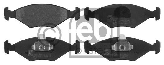 Kit de plaquettes de frein, frein à disque - FEBI BILSTEIN - 16855