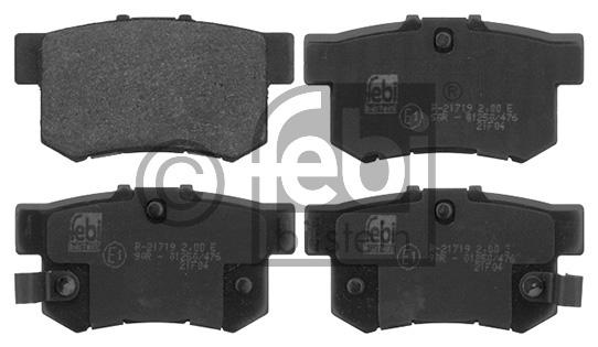 Kit de plaquettes de frein, frein à disque - FEBI BILSTEIN - 16873