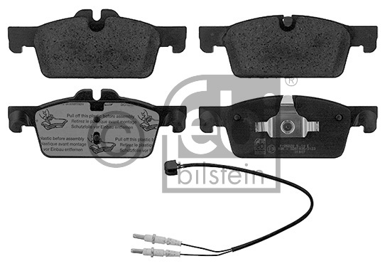 Kit de plaquettes de frein, frein à disque - FEBI BILSTEIN - 16874