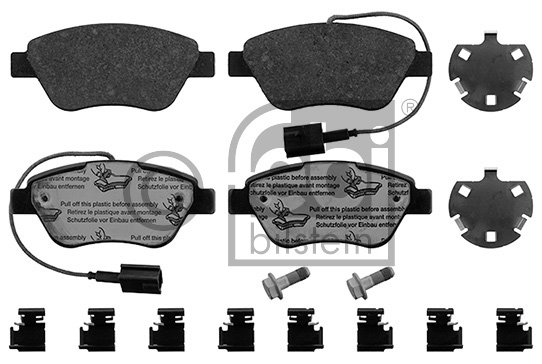Kit de plaquettes de frein, frein à disque - FEBI BILSTEIN - 16876