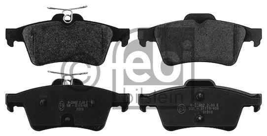 Kit de plaquettes de frein, frein à disque - FEBI BILSTEIN - 16890