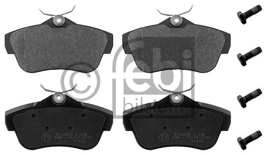Kit de plaquettes de frein, frein à disque - FEBI BILSTEIN - 16891