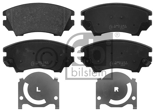 Kit de plaquettes de frein, frein à disque - FEBI BILSTEIN - 16892