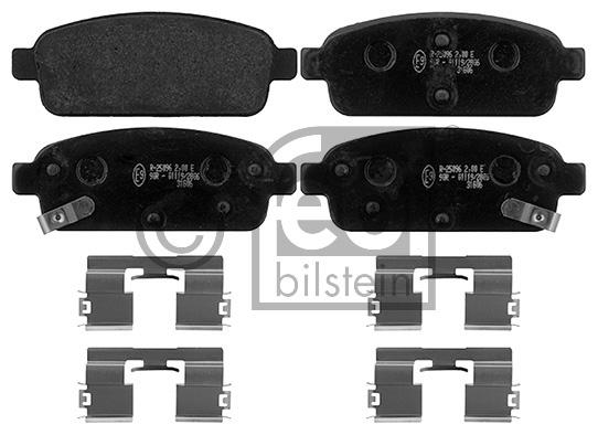 Kit de plaquettes de frein, frein à disque - FEBI BILSTEIN - 16893