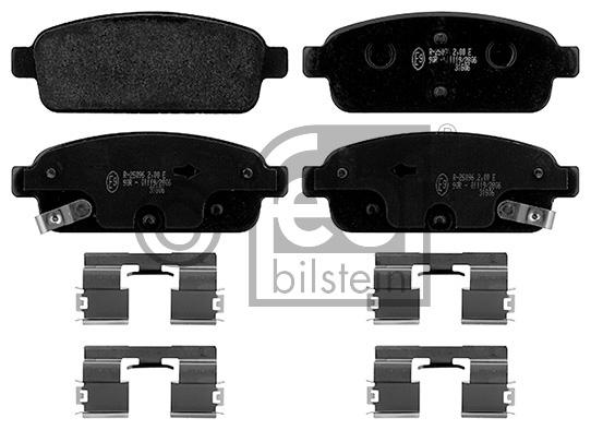 Kit de plaquettes de frein, frein à disque - FEBI BILSTEIN - 16894