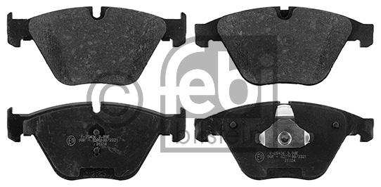 Kit de plaquettes de frein, frein à disque - FEBI BILSTEIN - 16899